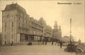 Ak Blankenberge Westflandern, La digue, Strandpromenade, Strandhotels