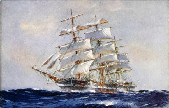 Segelschiff bleistiftzeichnung  Künstler Ak Spurling, J., Ship Titania, Segelschiff Nr. 1750304 ...