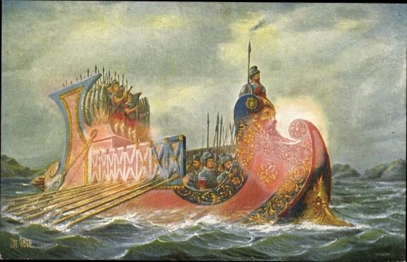 Künstler Ak Rave, Chr., Marine Galerie 19, Römisches Kriegsschiff, 1. Jahrhundert v. Chr.