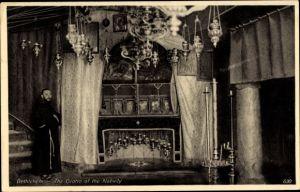 Ak Betlehem Palästina, The Grotto of the Nativity, Die Geburtsgrotte