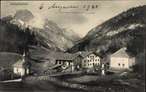Ak Babenstuben Eurasburg Oberbayern, Blick auf das Gasthaus Hirschbühel, Josef Kofler