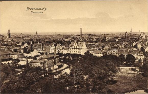 Ak Braunschweig in Niedersachsen, Panorama der Stadt