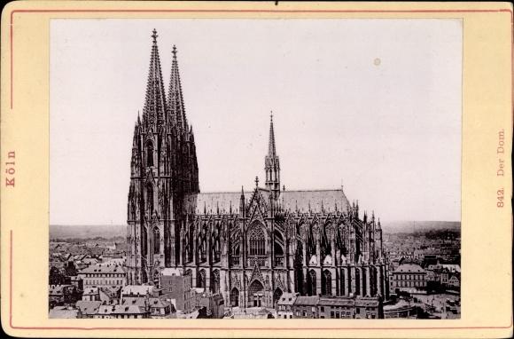 Foto Köln am Rhein, Kölner Dom, Außenansicht, Lichtbilder Galanterie Warenhandlung Braun Melzer