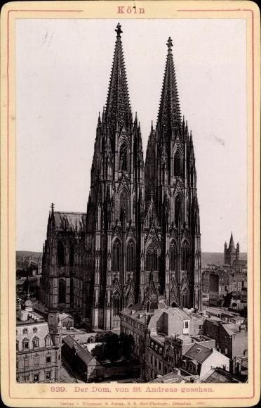 Foto Köln am Rhein, Dom, Blick von St. Andreas aus, Verlag v. Römmler & Jonas