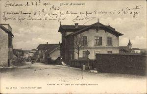 Ak Igney Avricourt Lothringen Meurthe et Moselle, Entrée du Village de Deutsch Avricourt
