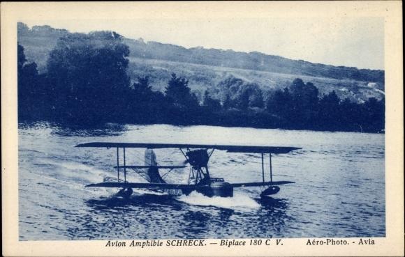 Ak Hydravion Amphibie Schreck, Biplace 180 CV, Wasserflugzeug