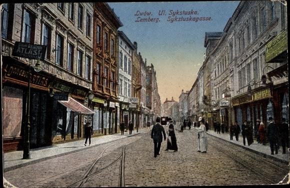 Ak Lwów Lemberg Ukraine, Ulica Sykstuska, Sykstuskagasse