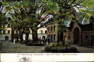 Ak Obernai Oberehnheim Elsass Bas Rhin, St. Odilienberg, Klosterhof, Mont St. Odile, couvent