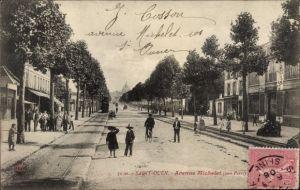 Ak Saint Ouen Seine Saint Denis, Avenue Michelet, Straßenpartie in der Stadt