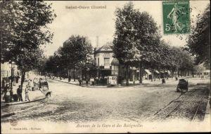 Ak Saint Ouen Seine Saint Denis, Avenues de la Gare et des Batignolles, Alami Lucien