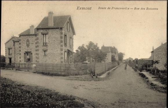 Ak Ermont Val d'Oise, Route de Franconville, Rue des Buissons