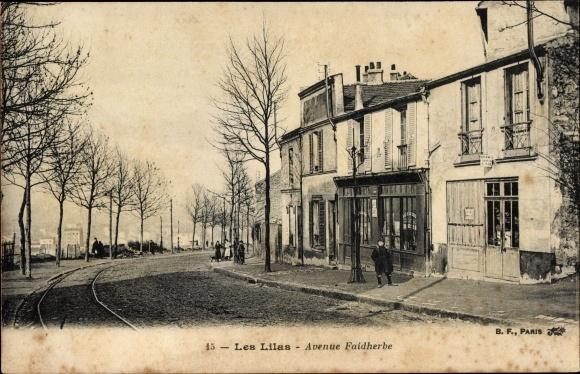 Ak Les Lilas Seine Saint Denis, Avenue Faidherbe, Geschäfte