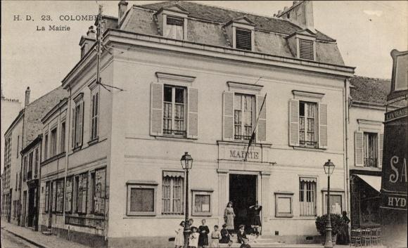 Ak Colombe Hauts de Seine, La Mairie, Rathaus, Kindergruppe