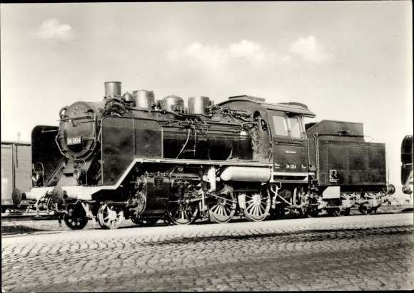 Ak Deutsche Eisenbahn, Einheitslokomotive, Tender No. 24 004, Dampflok