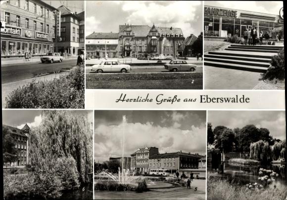 Riesen Ak Eberswalde im Kreis Barnim, Friedrich Ebert Straße, Platz der Freundschaft, IFA Vertrieb