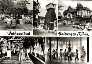 Riesen Ak Bad Salzungen im Wartburgkreis, Gradierwerk, Musikpavillon, Soleturm, Freiluftinhalation
