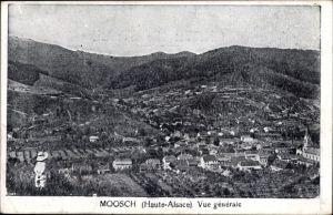 Ak Moosch Elsaß Elsass Haut Rhin, Vue génerale, Totalansicht der Ortschaft