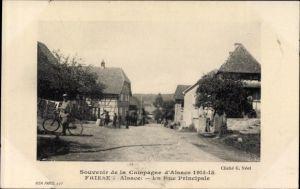 Ak Friesen Elsass Haut Rhin, La Rue Principale, Straßenansicht
