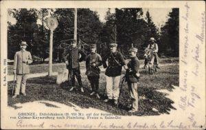Ak Didolshausen Haut Rhin, Deutsch Französische Grenze, Soldaten