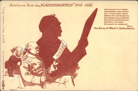 Künstler Ak Otto von Bismarck, Herzog zu Lauenburg, Bundeskanzler, Kladderadatsch