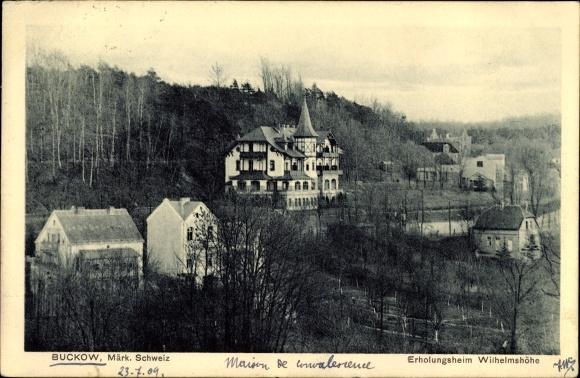 Ak Buckow in der Märkischen Schweiz, Blick zum Erholungsheim Wilhelmshöhe