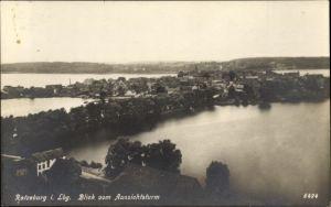 Ak Ratzeburg in Schleswig Holstein, Blick vom Aussichtsturm auf den Ort mit Umgebung