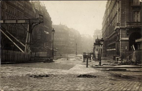 Foto Ak Paris, Gare St. Lazare, Place du Havre, Cour du Havre, Crue ...