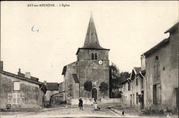 Ak Art-sur-Meurthe Lothringen Meurthe et Moselle, L'Eglise, Blick auf die Kirche