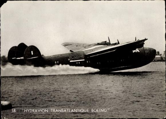 Ak Britisches Militärflugzeug, Hydravion transatlantique Boeing, Wasserflugzeug