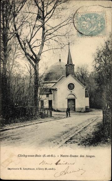 Ak Clichy sous Bois Seine Saint Denis, Notre Dame des Anges, Kirche
