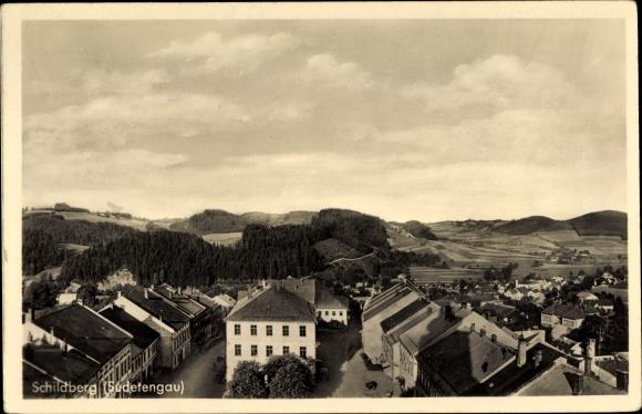 Ak Golenice Schildberg Neumark Pommern, Blick auf Stadt und Umgebung