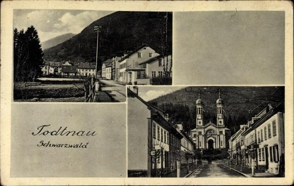 Ak Todtnau im Südschwarzwald Kreis Lörrach, Stadtansichten, Straßenpartie