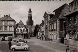 Foto Ak Quakenbrück in Niedersachsen, Blick auf den Marktplatz mit Rathaus