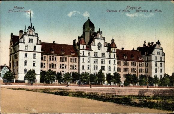Ak Mainz in Rheinland Pfalz, Blick auf die Alicen Kaserne
