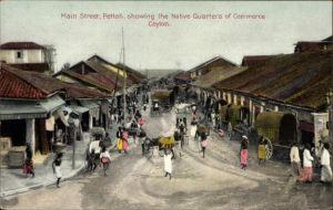Ak Pettah Colombo Brasilien, Main Street, Native Quarters of Commerce, Geschäfte, Fuhrwerke