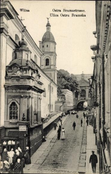 Ak Vilnius Wilno Wilna Litauen, Ostra Brama Straße, Ulica Ostrobramska