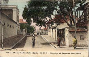 Ak Dakar Senegal, Direction et Casernes d'Artillerie, Verwaltungsgebäude der Artillerie Kaserne