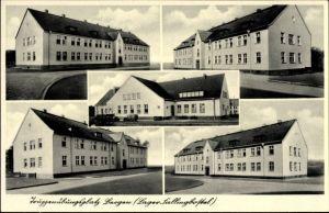 Ak Bergen in der Lüneburger Heide, Truppenübungsplatz, Ansichten von den Gebäuden