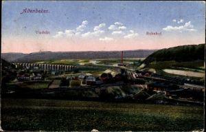 Ak Altenbeken in NRW, Blick auf den Ort mit Umgebung, Viadukt, Bahnhof