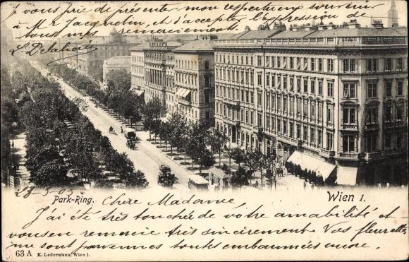 Ak Wien 1. Innere Stadt, Parkring, Gebäude