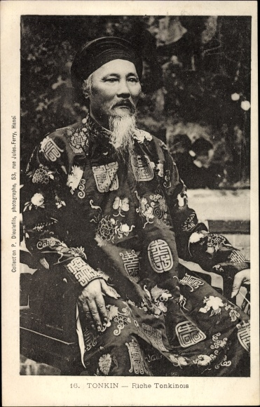Ak Tonkin Vietnam, Riche Tonkinois, Reichter Vietnamese
