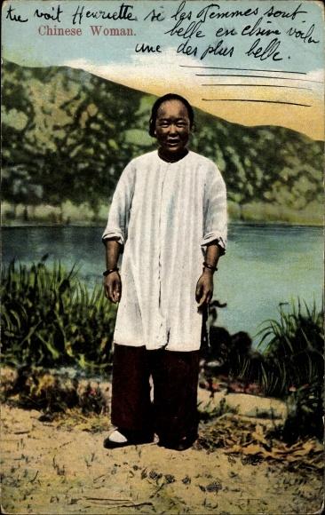Ak China, Chinese Woman, Chinesin, Standportrait