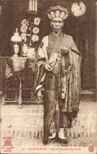 Ak Cochinchine Vietnam, Chef de Bonzerie Annamite