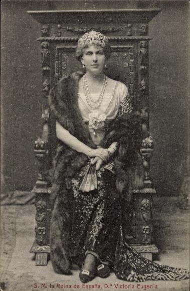 Ak Königin Victoria Eugenia von Spanien, Victoria Eugénie von Battenberg