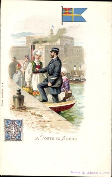 Briefmarken Litho Schweden, La Poste en Suède, Briefträger