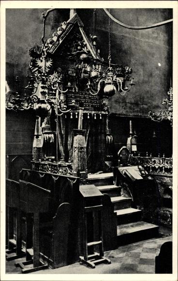Judaika Ak Praha Prag, Staramova Synagoga, Vnitrek, Altneusynagoge, Innenansicht