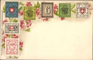 Briefmarken Litho Schweiz, Poste de Genève Port Cantonal, Orts Post, Rayon