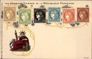 Briefmarken Litho Les Premiers Timbres de l'Empire Francaise