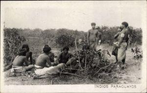 Ak Paraguay, Indios Paraguayos, Paraguayische Indios