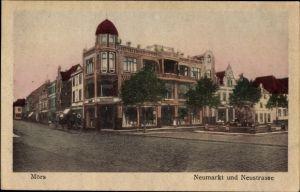 Ak Moers am Niederrhein, Neumarkt und Neustraße, Geschäftshaus Korthauer, Schaufenster